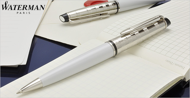Bút Waterman EXPERT Deluxe White Ballpoint Pen CT