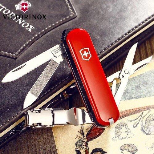 Dao đa năng Victorinox Delemont Nail Clip 580 Red 0.6463 - Chính hãng
