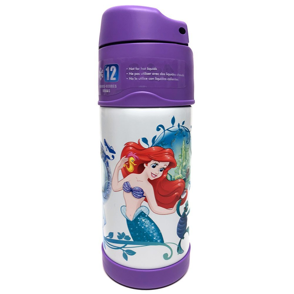 Thermos FUNtainer Disney Princess Bottle With Straw, Keeps Contents Cold For Up To