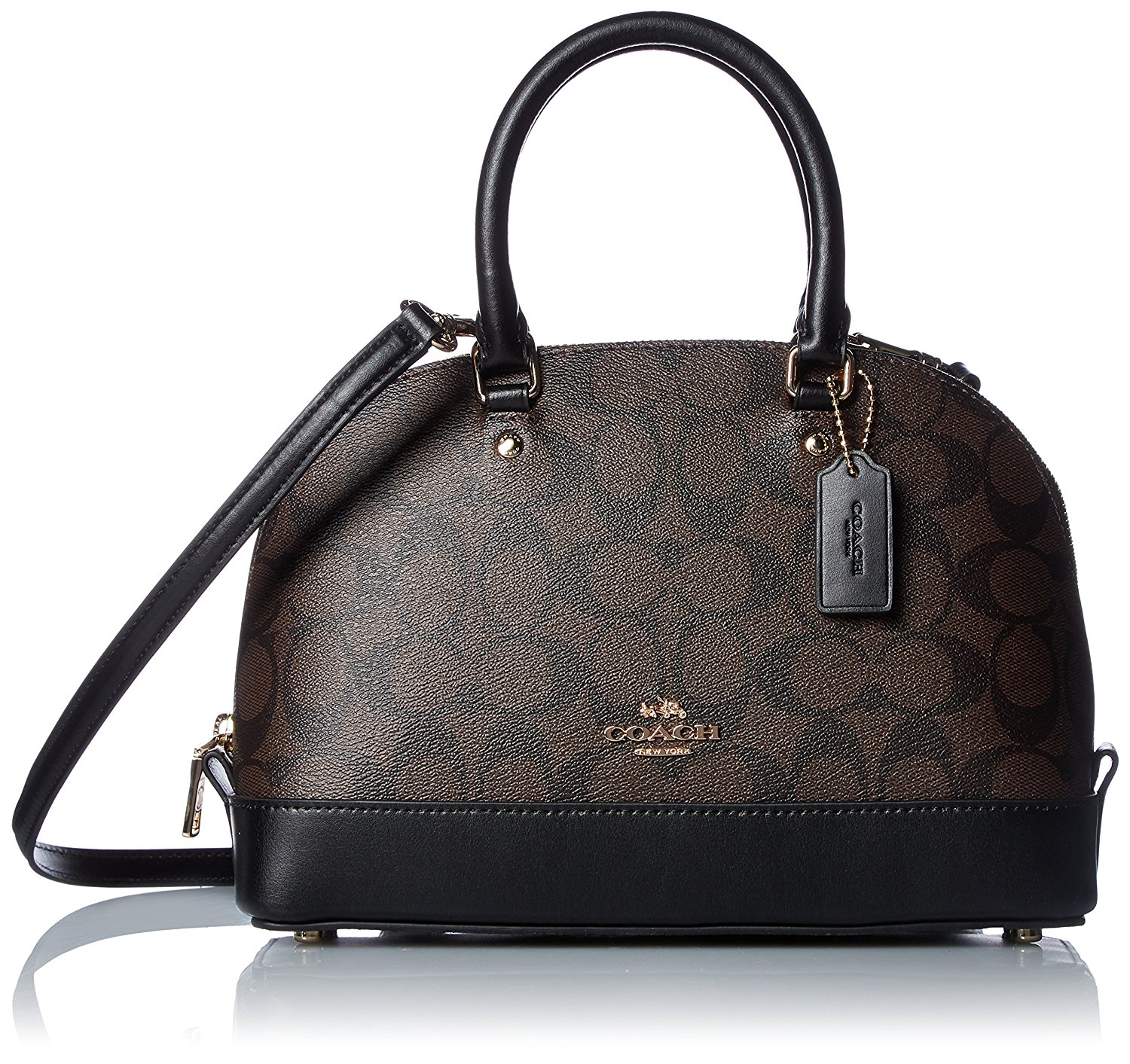 Túi Coach shoulder bag gold Black F57555 IMAA8