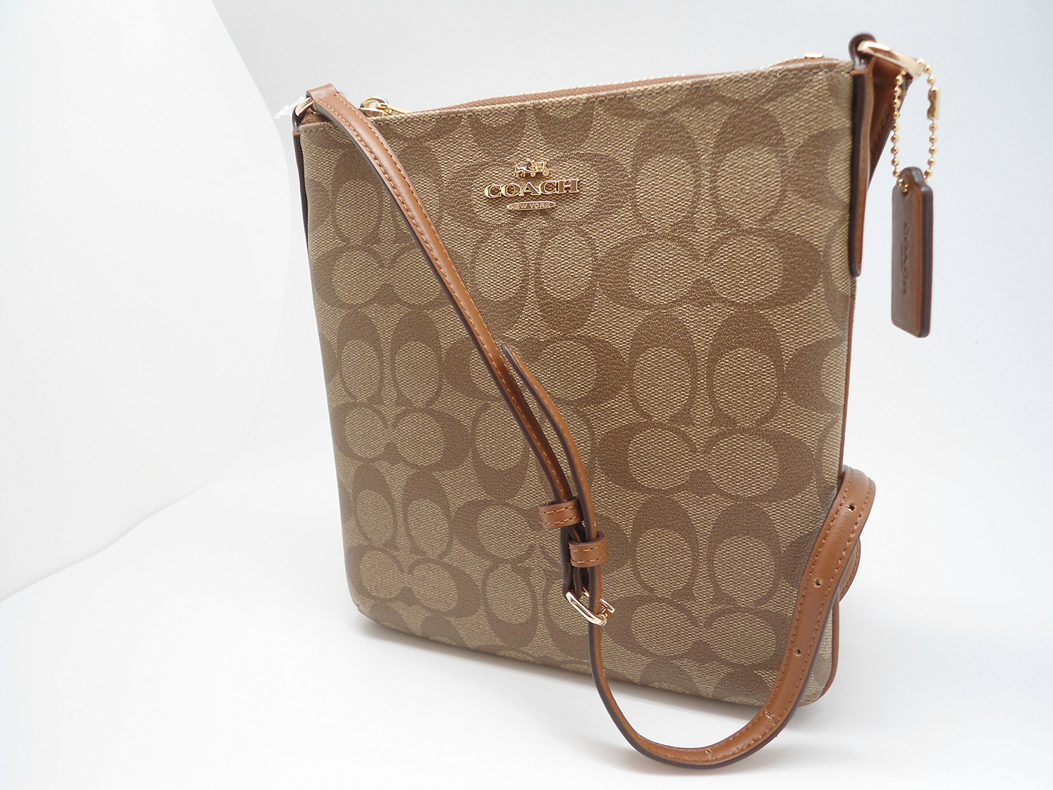 Túi Coach F35940 Crossbody In Signature Khaki/Saddle
