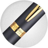 cài bút Waterman Hemisphere Matte Black with Gold Trim dát vàng 23k sang trọng
