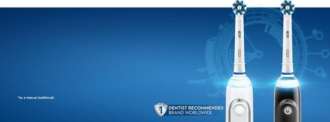 Bàn chải đánh răng điện Oral B giúp răng trắng xinh