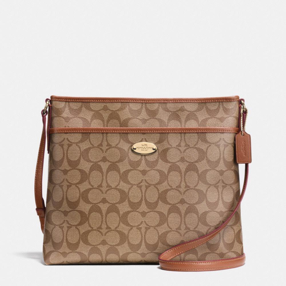 Túi Coach shoulder bag khaki brown F58297 IMBDX - Chính hãng
