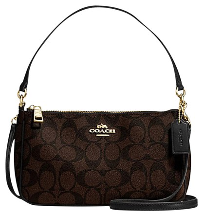 Túi Coach F58321 Messico Top Handle Pouch In Signature Brown/Black sang trọng