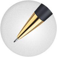 Ngòi bút Waterman Hemisphere Matte Black with Gold Trim được thiết kế tinh xảo