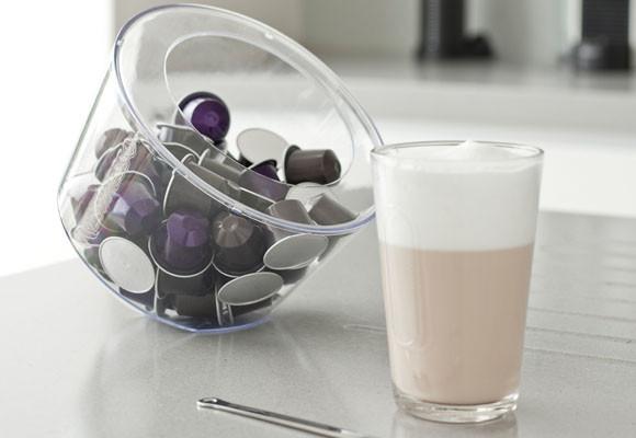 Hộp đựng cà phê Nespresso VIEW BONBONNIÈRE bạn có thể để theo dạng nghiên để tạo một không gian đầy cá tính
