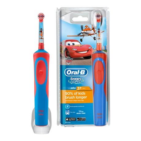 Bàn chải đánh răng điện trẻ em Oral-B Stages Power Electric Toothbrush Featuring Cars Characters