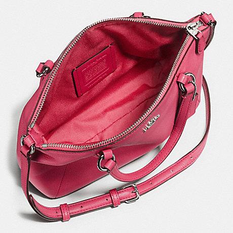 Túi Coach F57563 Pebble Leather Mini Kelsey Gold/Bright Pink