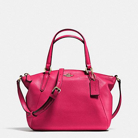 Túi Coach F57563 Pebble Leather Mini Kelsey Gold/Bright Pink - Chính hãng