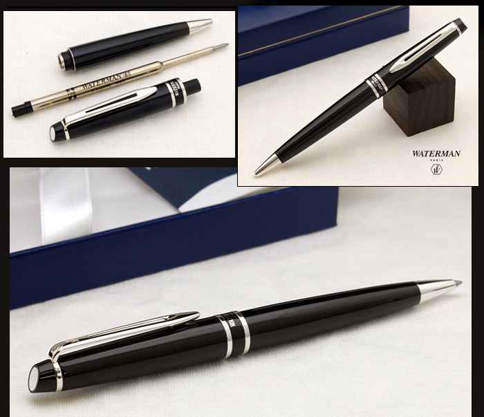 Waterman EXPERT Black Ballpoint Pen CT