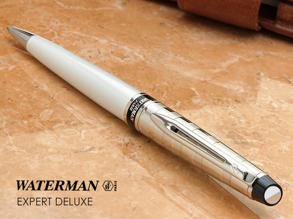 Waterman EXPERT Deluxe White Ballpoint Pen CT