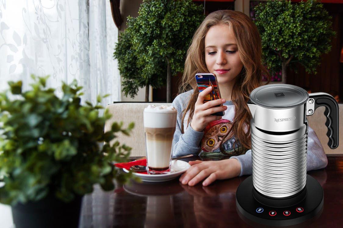 Máy đánh sữa Nespresso AEROCCINO4 MILK FROTHER WHITE  giúp bạn tiết kiệm được thời gian