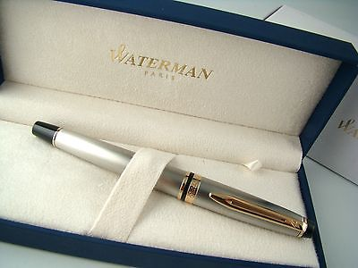 Bút Waterman EXPERT Stainless Steel Fountain Pen GT - Ngòi M