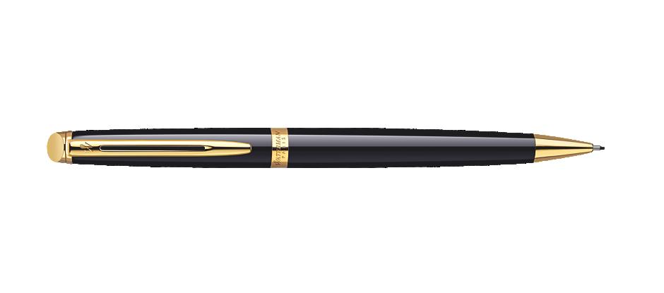 Bút Chì  Waterman Hemisphere Black Gold Trim Mechanical Pencil - Gift Boxed - Ngòi 0.5MM - S0920690