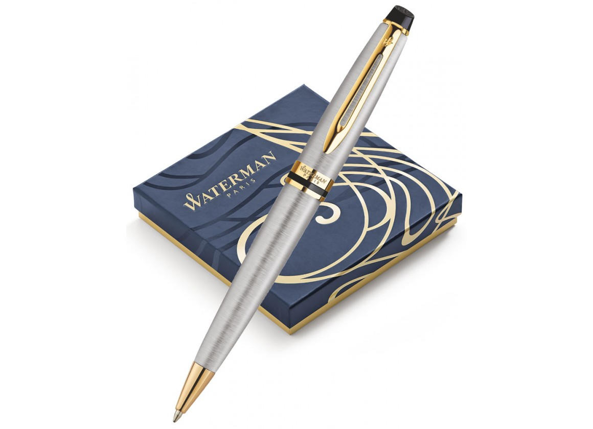 Bút Waterman EXPERT Stainless Steel Ballpoint Pen GT
