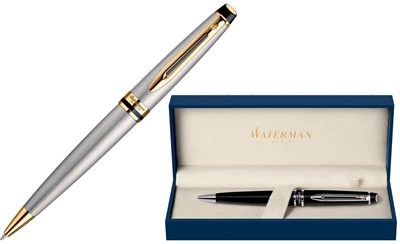 Waterman EXPERT Stainless Steel Ballpoint Pen GT